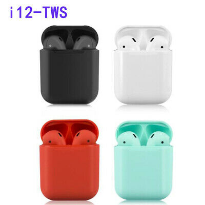 i12 TWS Bluetooth 5.0 Earphone Smart Touch Control Wireless Earbuds NEW UK