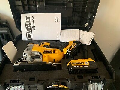 DEWALT DCS331N 18V XR Cordless Jigsaw and TSTAK Carry Case With 2 Batteries