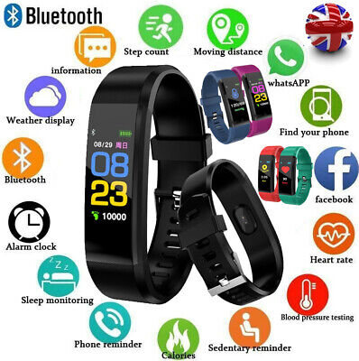 Fitness Smart Watch Activity Tracker WomenMen Kid Fitbit Android iOS Heart Rate△