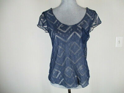 b215e8d3380561 KIMCHI BLUE URBAN Outfitters Sheer Embroidered Blouse Tunic Top Sz S ...