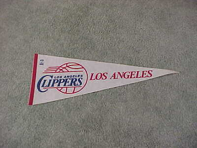 1980s Los Angeles Clippers Basketball Logo Basketball Pennant