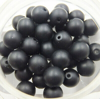 Wholesale Natural Matte Black agate Round Spacer Loose Beads 4-12mm DIY jewelry