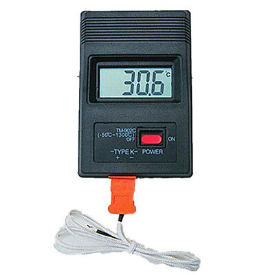 TM-902C Temperature Meter Digital K Type Thermometer Sensor + Probe detectoXBUK
