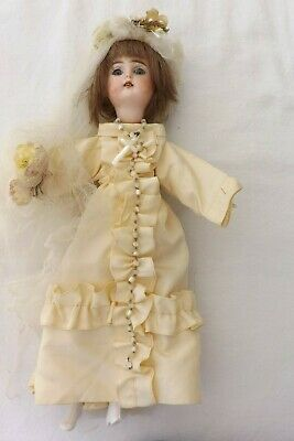 A Small German Bisque Headed 192 30Cms Poor Condition A Beautiful Doll