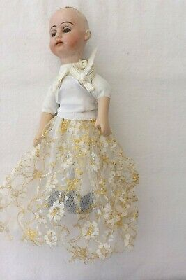 A Small German Bisque Headed 22Cms Poor Condition A Beautiful Doll