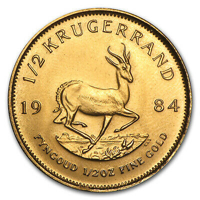 1984 South Africa 1/2 oz Gold Krugerrand - SKU #89692
