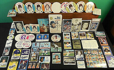 60s-80s L A Dodgers collector lot 290++ Drysdale Koufax Sutton Garvey Sax Lopes