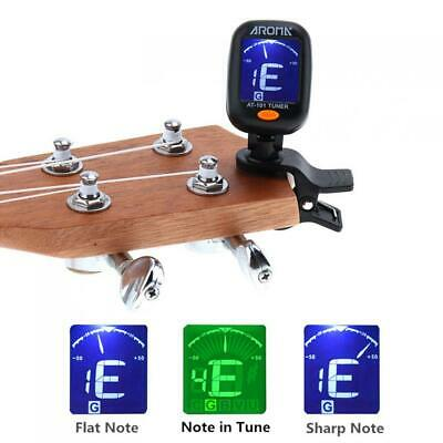 Portable Clip-On Digital Tuner for Acoustic Electric Guitar Bass Violin Ukulele