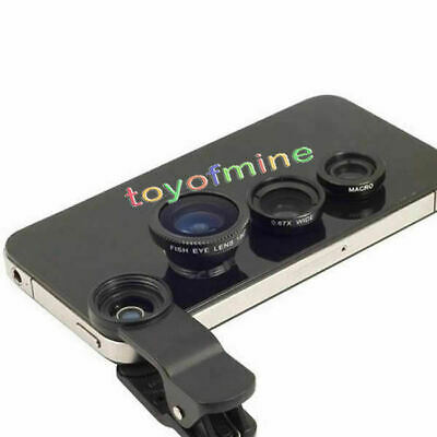 Universal Clip 3in1 Fish eye Macro Wide Angle Lens for All phones