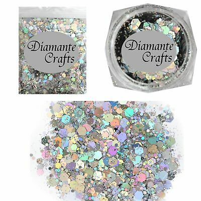 UNICORN Glitter - Festival Makeup -  Body Face Nail Hair - Holographic