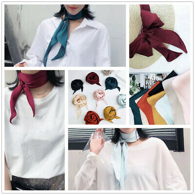 Ribbon Silk Long Mini Neck Scarves Women Neckerchief Hair Band Bag Handle Wraps