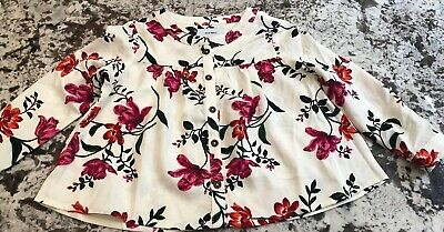 Nwt Toddler Girl Old Navy Floral Button Down Shirt Size 2T