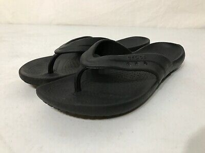 6ff643bf8 Crocs ABF Flip Flops Ergonomic Womens 7 Rubber Slip On Sandals Almost  Barefoot.