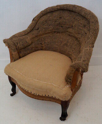 Antique 19thC French Louis Philippe Tub Chair inc. Reupholstery (exc. fabric)