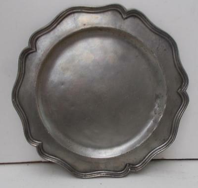 Vintage French Pewter Plate