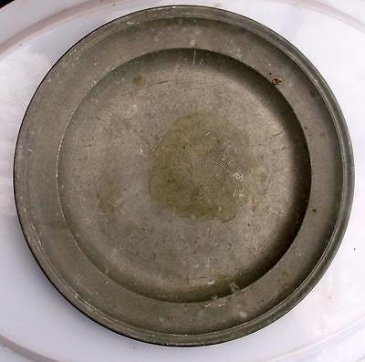 Old French Pewter Plate #CH1