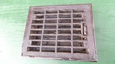 Vintage VICTORIAN Cast Iron Floor Grille 11x9 Heat Grate Register + Louvers