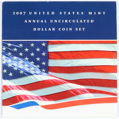 2007 United States Mint Annual Uncirculated Dollar Coin Set SAE Unc West Point