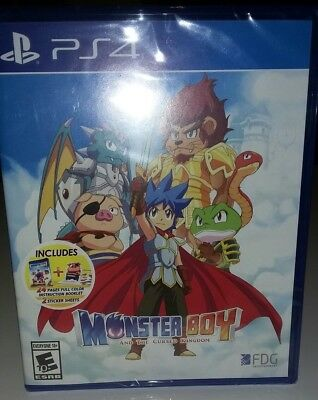 Monster Boy and the Cursed Kingdom PS4 * New *
