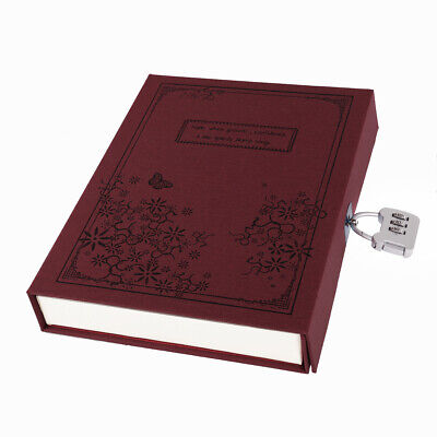 Notebook With Lock Diary Retro Password Diaries Book Diary Journal Lockable Book