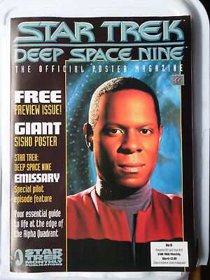 STAR TREK DEEP SPACE NINE OFFICIAL POSTER BOOK No 0 POSTERS GIANT SISKO POSTER