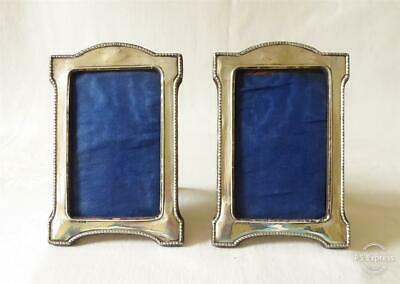 Pair Of Antique Early 20Th Century Silver Photo Frames Birmingham 1911