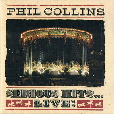 Phil Collins Serious Hits Live (Against All Odds, Sussudio) 1990 WEA CD Album