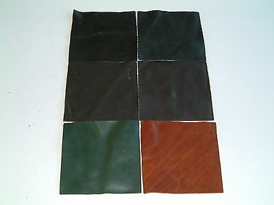 "6"" square leather patch for repairs/crafts- 6 variations to choose from"