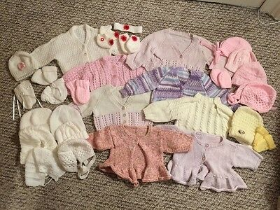 Baby Girl 0-6 month hand knit bundle