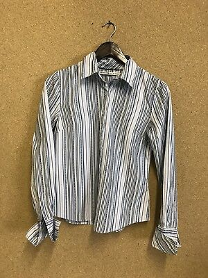 Lovely Tommy Hilfiger Striped ladies shirt - Size 6 - Blue And White - A13