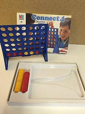 CONNECT 4 Vintage Retro Board Game MB Games Four in a Row 70s 80s ** COMPLETE **