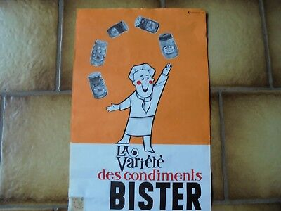 Deux affiches Bister (moutarde )