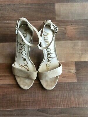 3d381ef87426 Sam Edelman Yaro oatmeal suede heels Sandals shoes size 9M Worn once