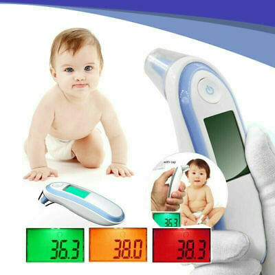 Infrared Digital Ear Forehead Thermometer Fever For Baby Kids Children CE LCD