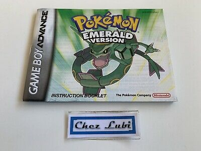 Notice - Pokémon Emerald Version - Nintendo Game Boy Advance GBA - NTSC USA