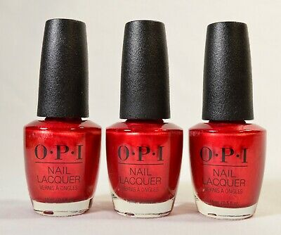 3 x OPI An Affair in Red Square 0.5 oz Nail Lacquer Polish NLR53 Russian RETIRED
