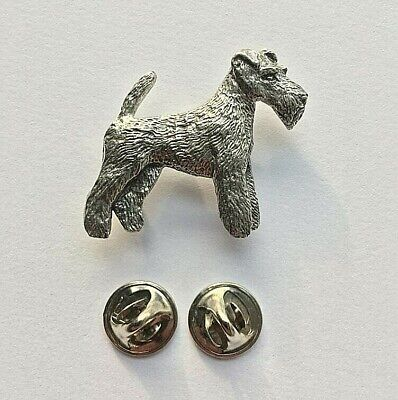 Dog Gift Present Wire Hair Fox Terrier Pewter Pin Brooch British Handcrafted