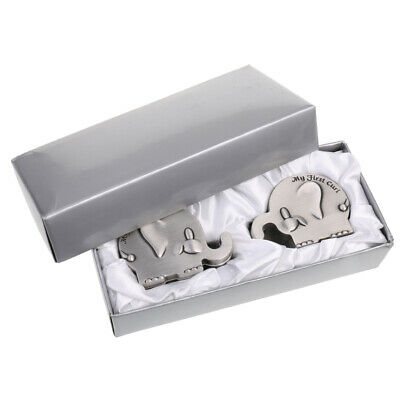 Vintage Alloy Elephant My First Tooth and Curl Storage Box Organizer Gift