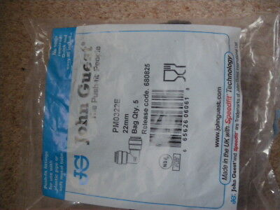 john guest  PMO 322E    22 mm push fit elbows new stock unopened