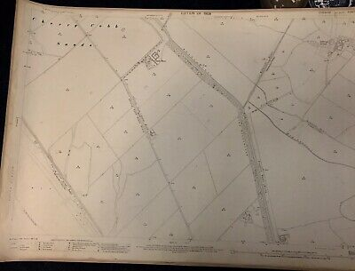 Original 1909 Ordnance Survey Map Paull Hull  Yorkshire Vintage Salthaugh Grange