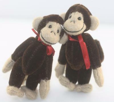 "Boyds Bears T.F. Wuzzies 3.5"" mini twin monkey pair mini w tag plush attached 97"