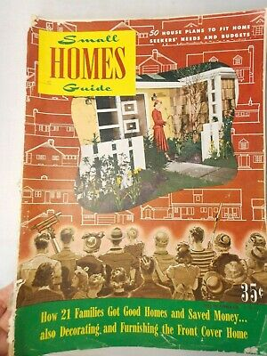 Vintage 1948-49 Small Homes Guide Magazine-50 House Plans