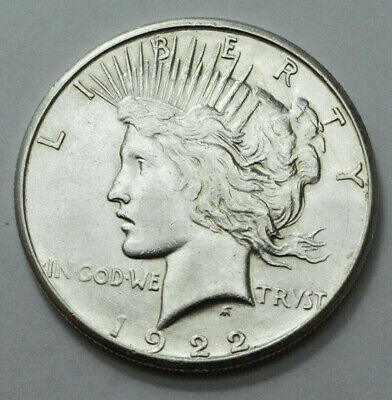 1922-S  Peace Dollar Superb  Silver US Coin , $1.00 , NO RESERVE  !!