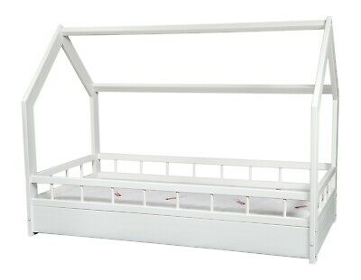 Scandinavian style kids bed+ PREMIUM mattress,set,house bed 160x80+barriers