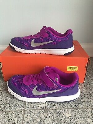 30cba2ac5c4a New Nike Flex Experience 5 (PSV) Girls Purple Running Shoes Size 1.5 Y