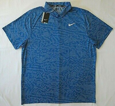 56710e70 Nike Golf Breathe Dri-Fit Jacquard Polo Shirt Men's Size 2XL 888567-433