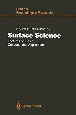 Surface Science: Lectures on Basic Concepts and Applications (English) Paperback