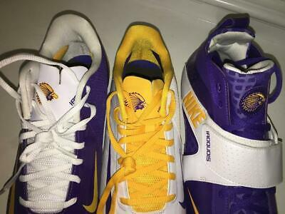 RARE New Nike IROQUOIS NATIONALS (3) cleats ( ONLY RIGHT SHOES ) sz 10,10, 9