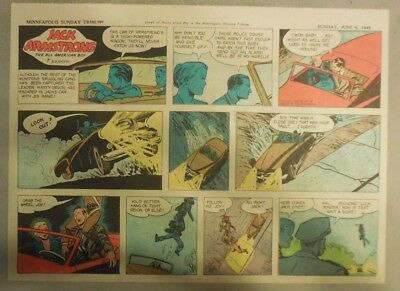 Jack Armstrong The All American Boy by Bob Schoenke 6/6/1948 Half Size Page !