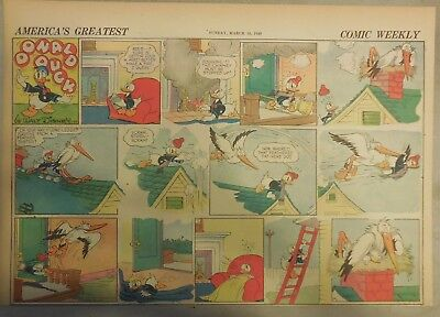 Donald Duck Sunday Page by Walt Disney from 3/10/1940 Half Page Size